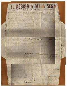 Originale foglio dal carcere scritto dai Camerati di Avanguardia Nazionale
