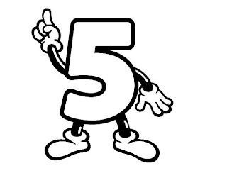 Números para colorir pintar 5