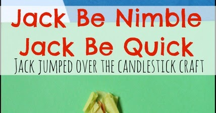 sugar aunts jack be nimble nursery rhyme craft. Black Bedroom Furniture Sets. Home Design Ideas