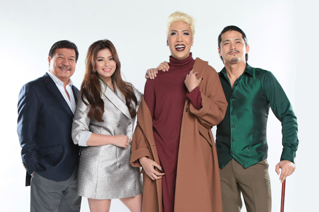 The judges of Pilipinas Got Talent: FMG, Angel Locsin, Vice Ganda and Robin Padilla