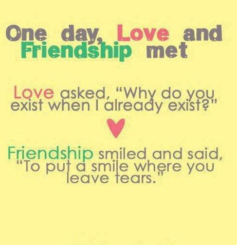 Quotes About Love Vs Friendship : friendship quotes and sayings friendship quotes and sayings friendship ...