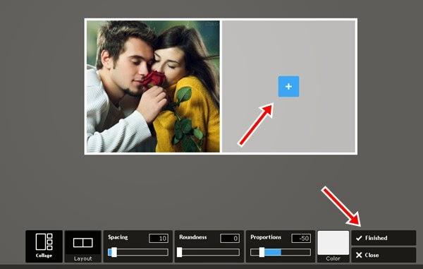 Colagem de duas fotos lado a lado