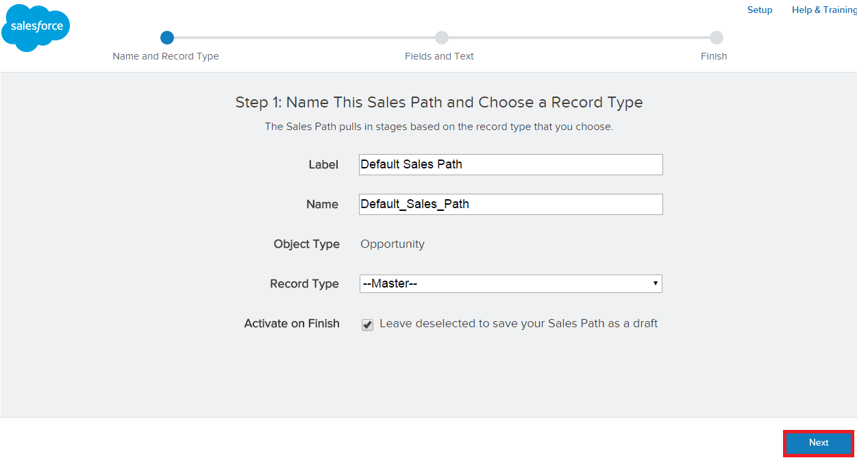 Infallible Techie: Sales Path in Salesforce