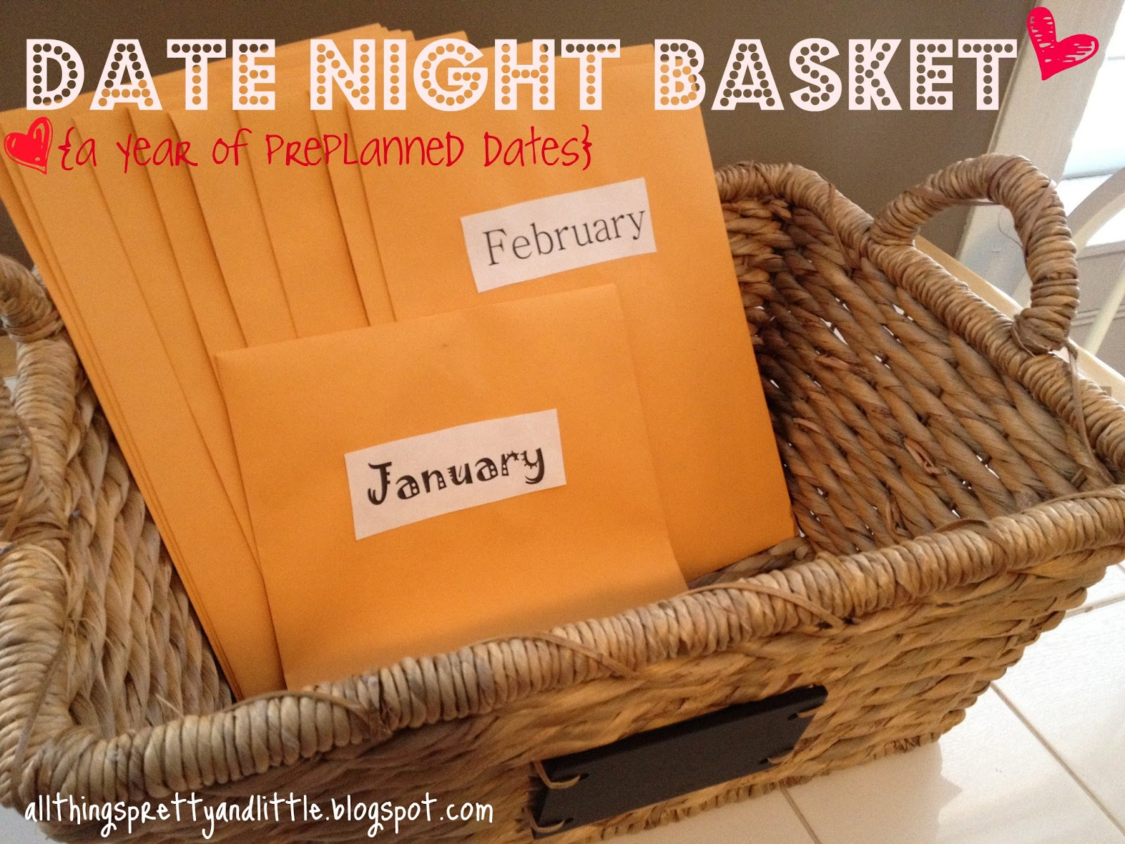 pretty little things date night basket a year of pre planned dates