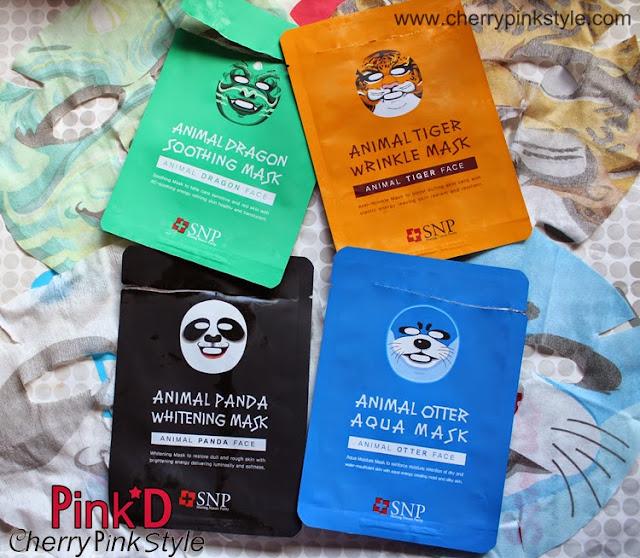 Panda mask, Tiger Mask, Dragon mask, Otter Mask