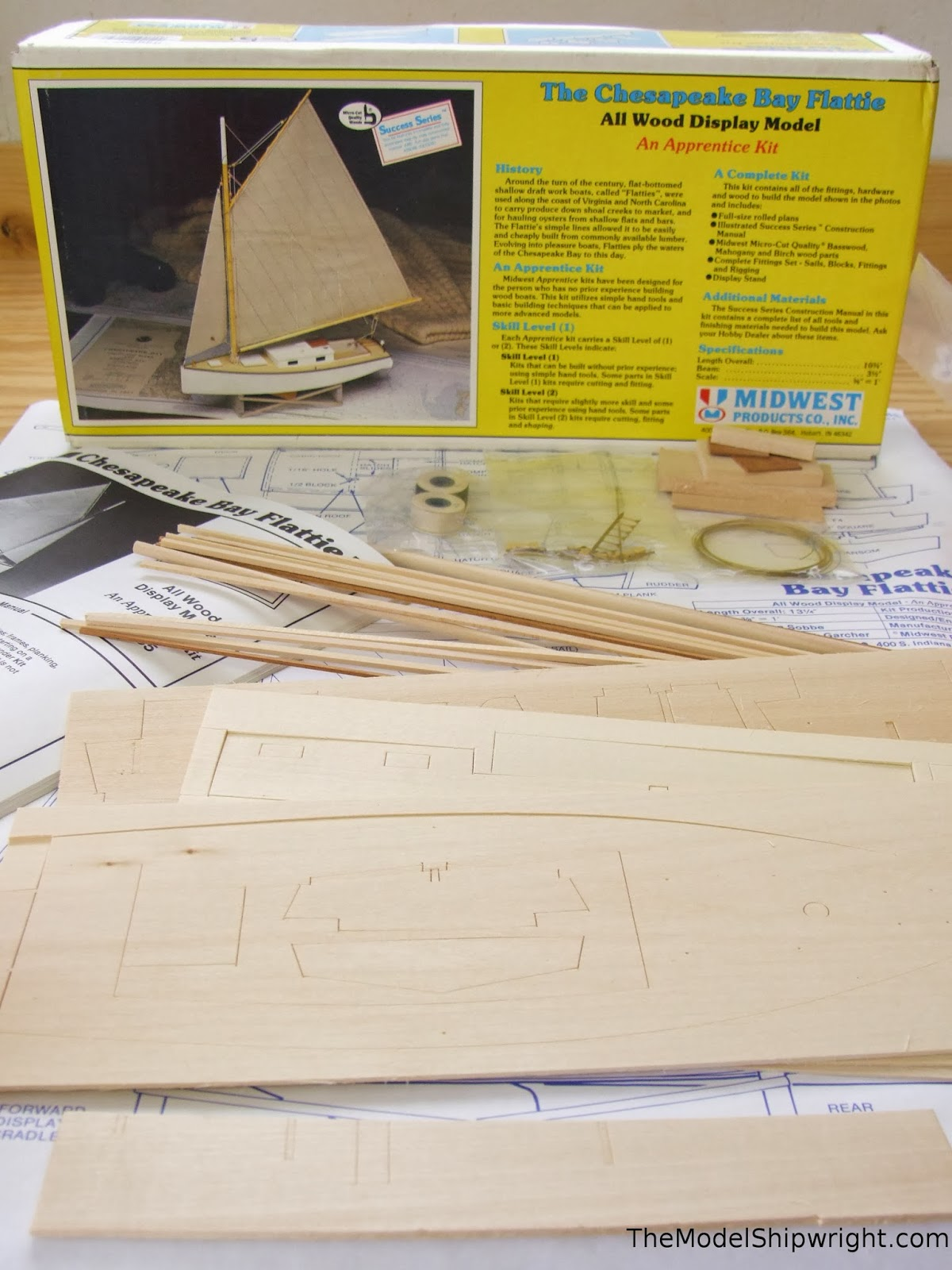 plank-on-bulkhead model ship kit Chesapeake Bay Flattie