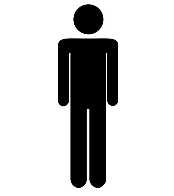 Man And Woman Bathroom Sign Womens Bathroom Symbol