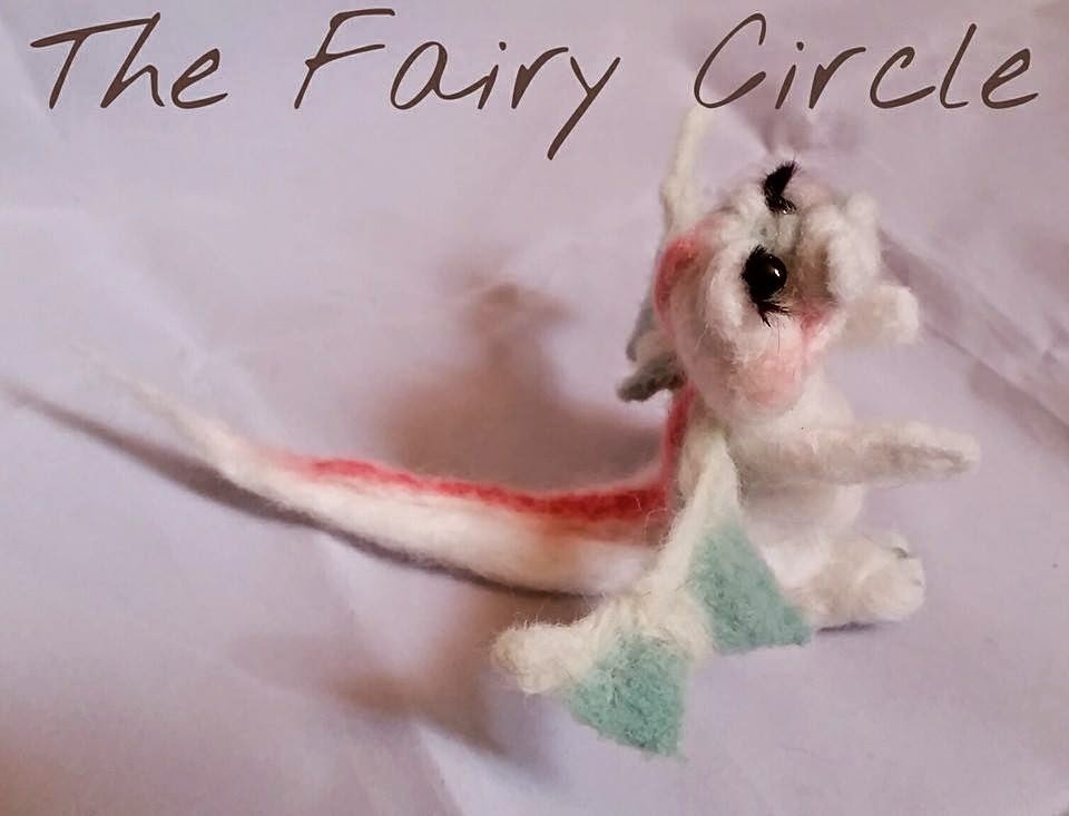 needle felting dragon ooak wool felt