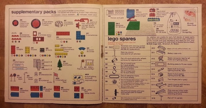 Lego Collector's Guide 1970's Supplementary and spares