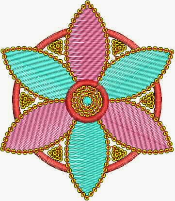 borduurwerk blom appliekwerk