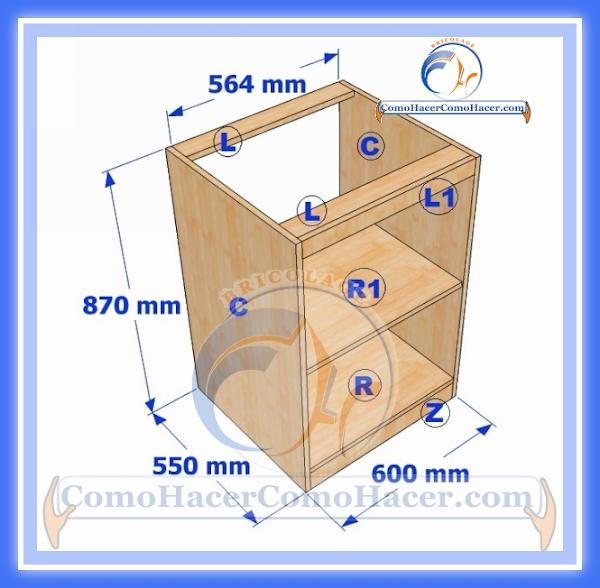 As de facil se hace un mueble para la cocina taringa for Como hacer un plano de una cocina