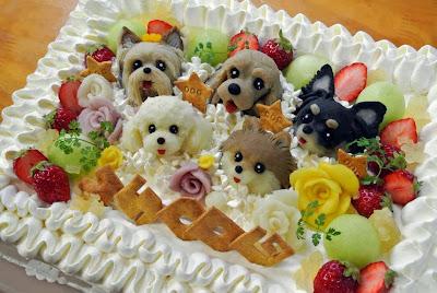 Tarta con perros
