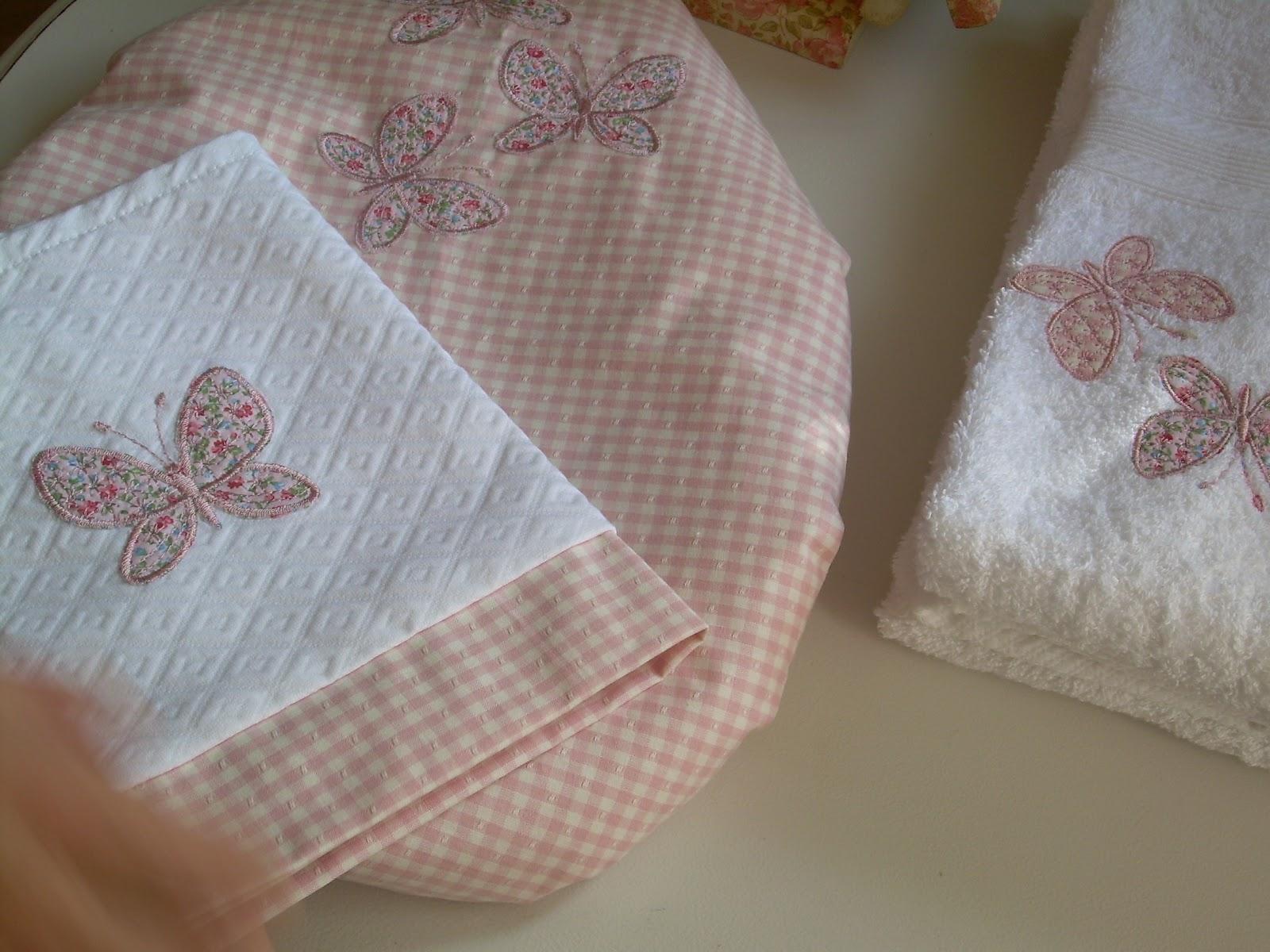 Set De Baño Infantil:set de baño detalle de bordado de cortina de baño