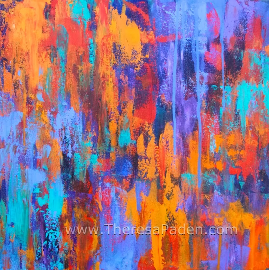 Paintings by theresa paden abstract modern art colorful for Abstract mural art