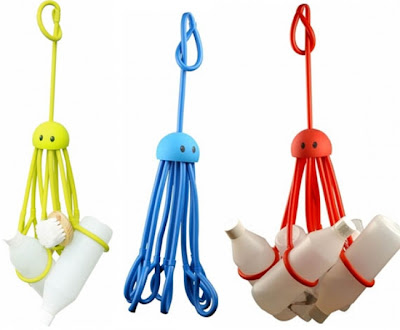 Octopus shower caddy, with 8 arms to hold bottles