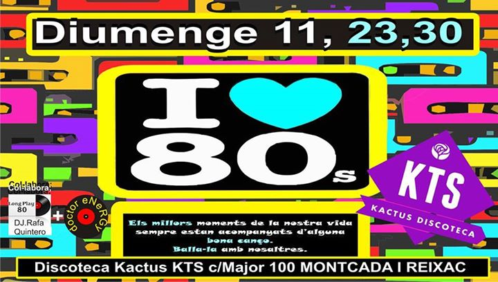 Flyer Fiesta De Los 80's