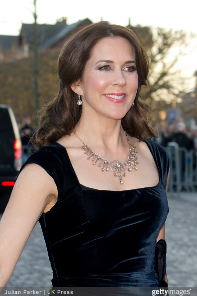 Crown Princess Mary of Denmark, attends a Gala Night to mark the forthcoming 75th Birthday of Queen Margrethe II of Denmark at Aarhus Concert Hall