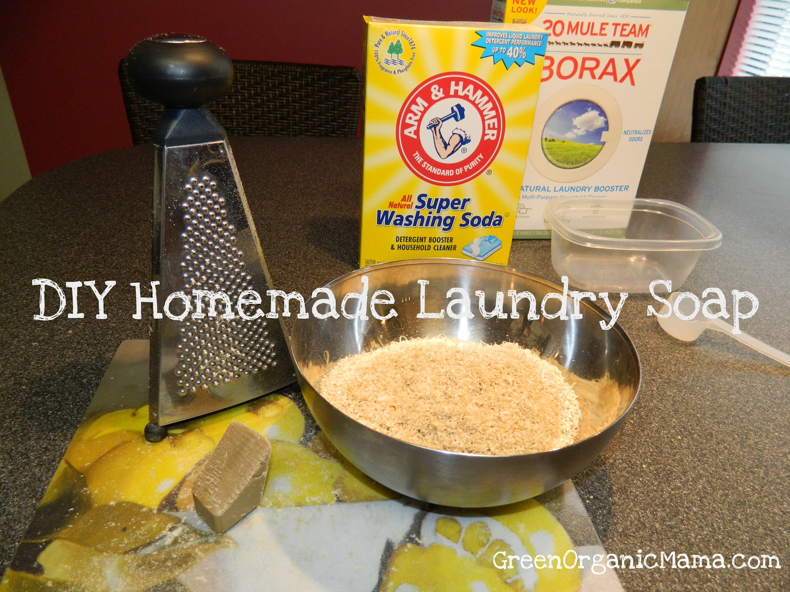 Our gang of mommy friends to the wonders of homemade laundry soap