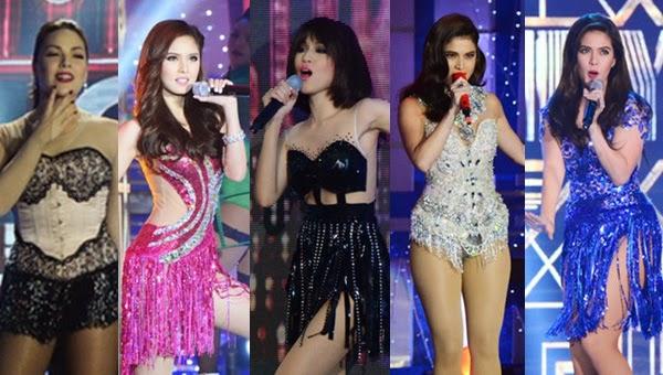 KC Concepcion, Kim Chiu, Toni Gonzaga, Anne Curtis, Shaina Magdayao in ABS-CBN Christmas Special 2014