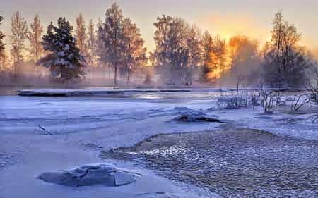 Pemandang Salju Terindah di Swedia