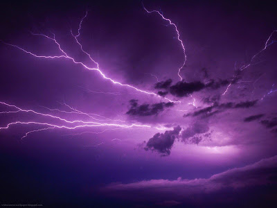 Purple Storm Lightning on the sky - Purple Wallpaper
