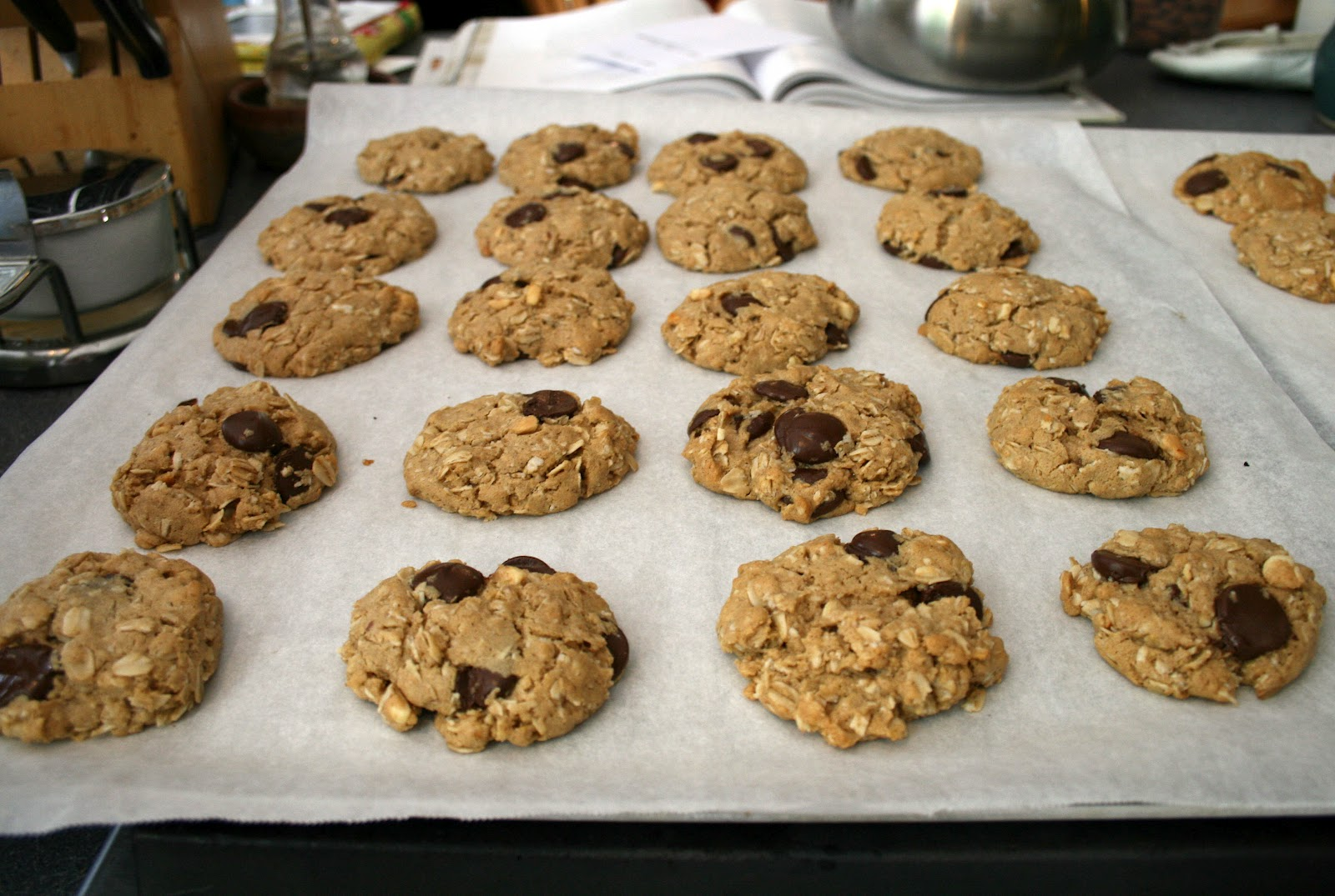 one clever mom: Chunky Peanut Butter and Oatmeal Chocolate Chipsters