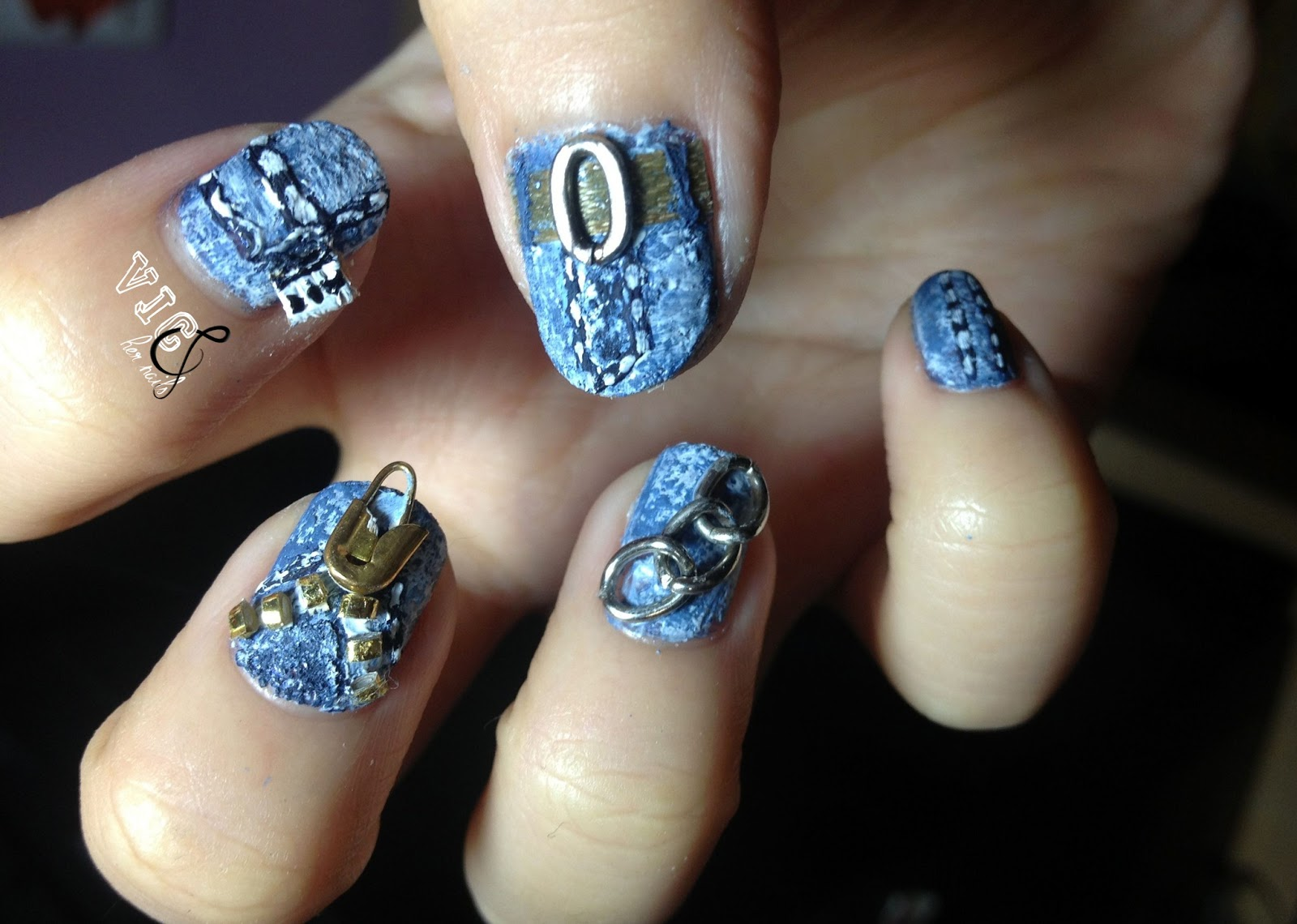 Vic and her nails my first nail art contest jeans nail art in 3d im sorry if its not a good mani because its my first time doing 3d nail art seriously first time ever thank you so much and i hope you prinsesfo Images