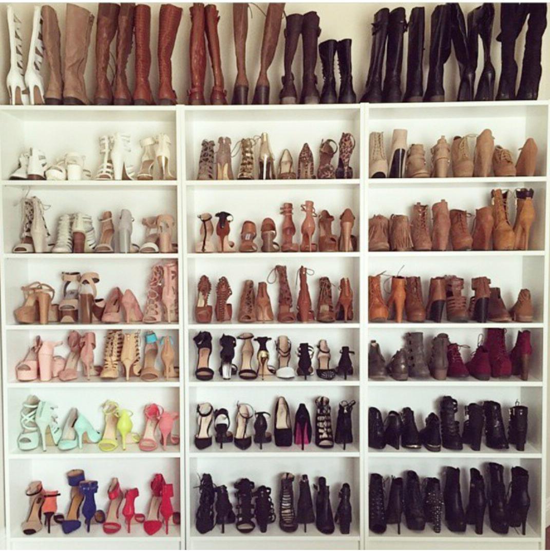 C mo organizar los zapatos rosaframbuesa ferrussian - Muebles para zapatos ...