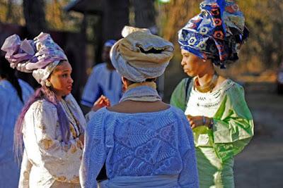 women in oyotunji village