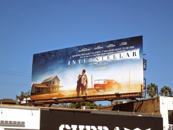 Interstellar movie billboard