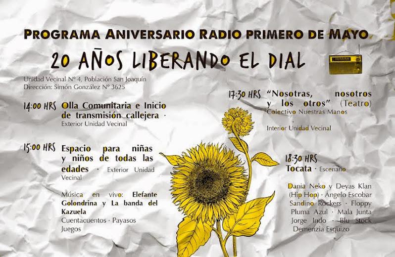 PROGRAMA ANIVERSARIO RADIO PRIMERO DE MAYO