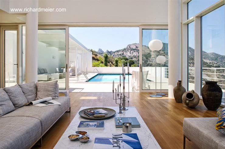 Sala de estar abertura a la piscina exterior