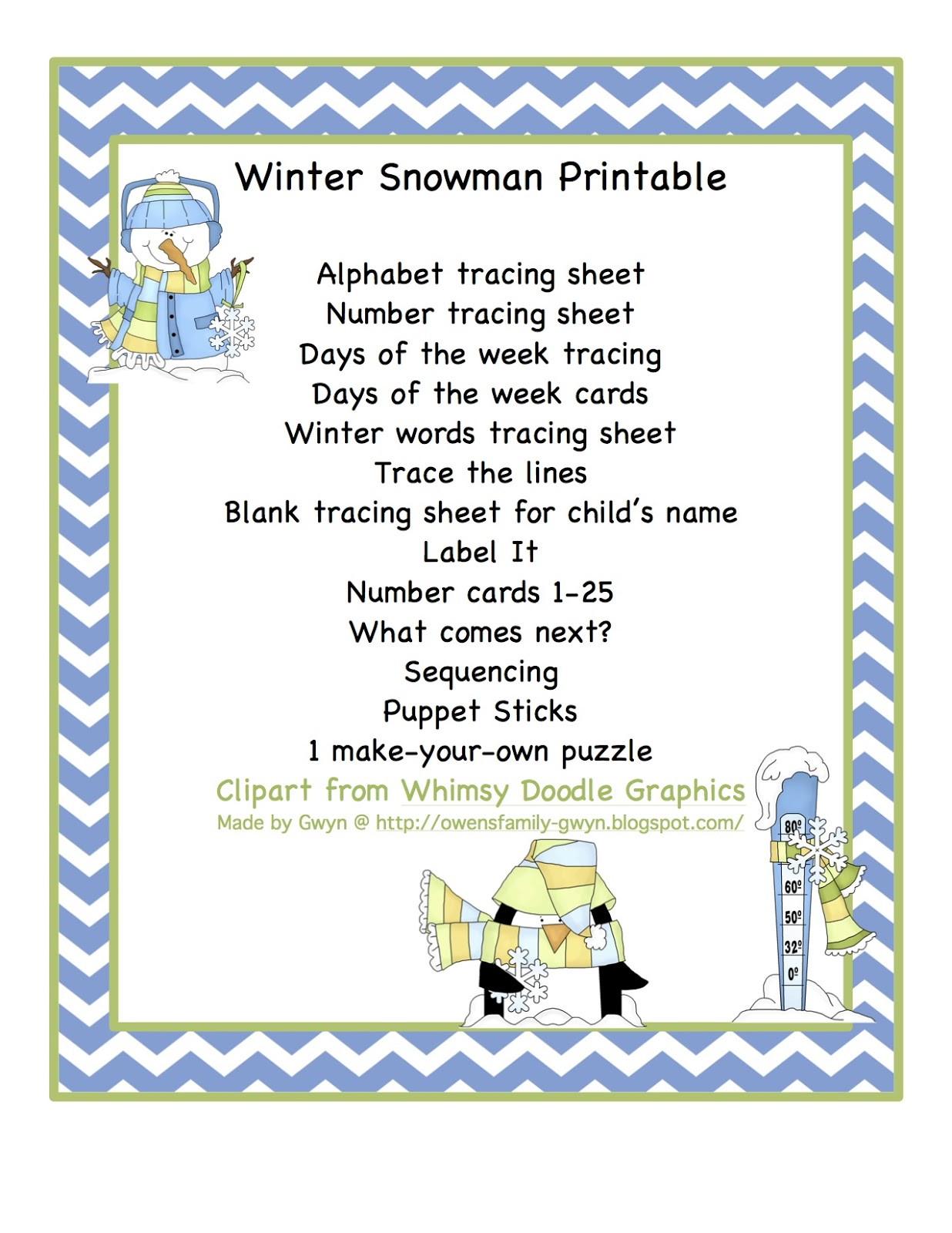 snowman sequencing cards printable