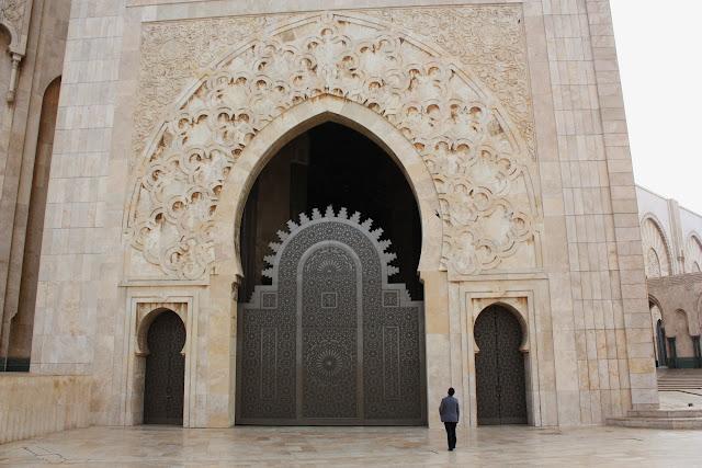 Casablanca, Marruecos, Gran Mezquita, Hassan II, blog de viajes, puerta