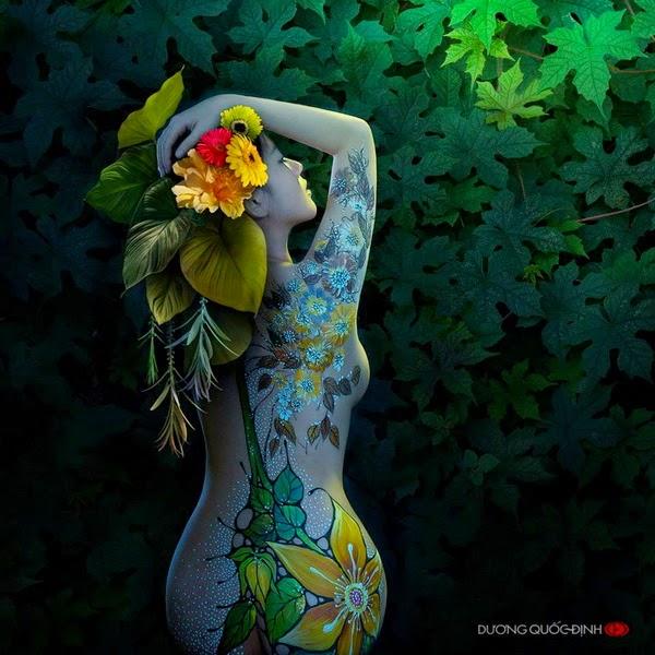 Ảnh gái xinh Body painting của Dương quốc định 8