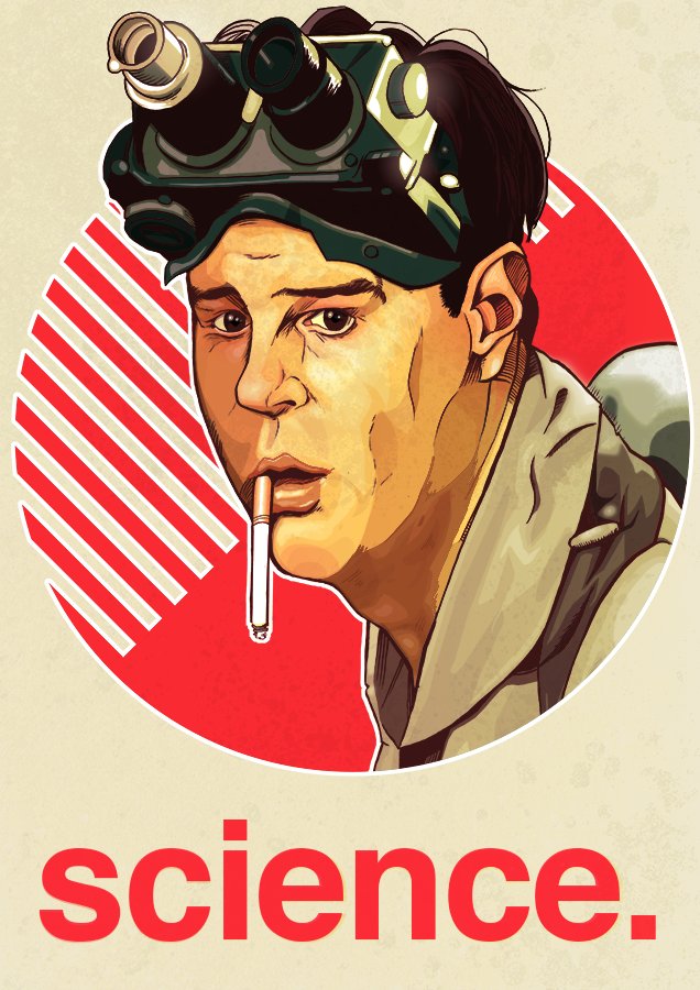 Ghostbusters movie poster Dan Aykroyd art