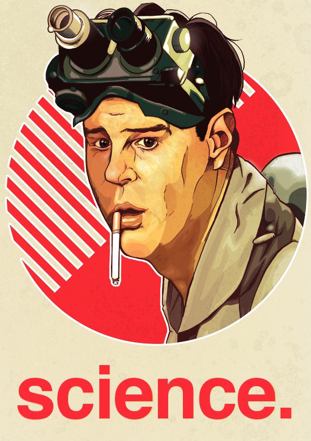 Ghostbusters movie poster Dan Aykroyd art