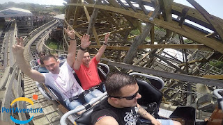 Tomahawk Roller Coaster - On Ride | PortAventura 2015