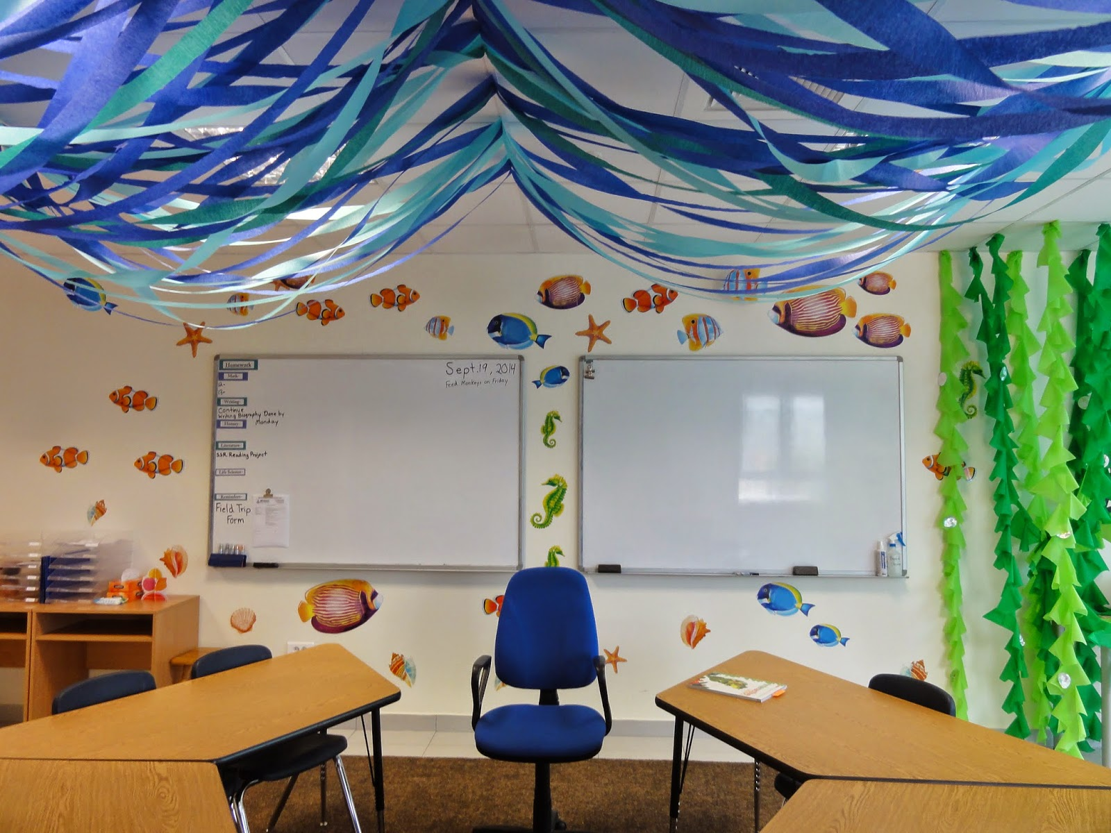 Classroom Party Ideas ~ The charming classroom ocean theme