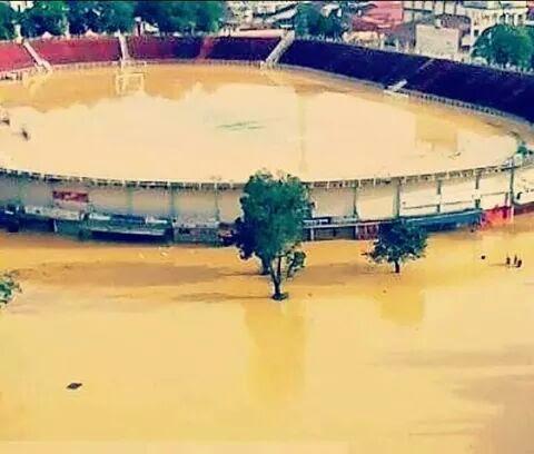 banjir 2014, kelantan, stadium sultan mahmud