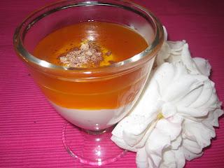 iogurte grego com doce de abobora