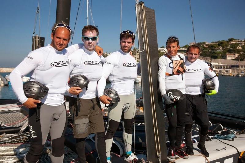 Sebastien Rogues et ses hommes au Marseille One Design en GC32.
