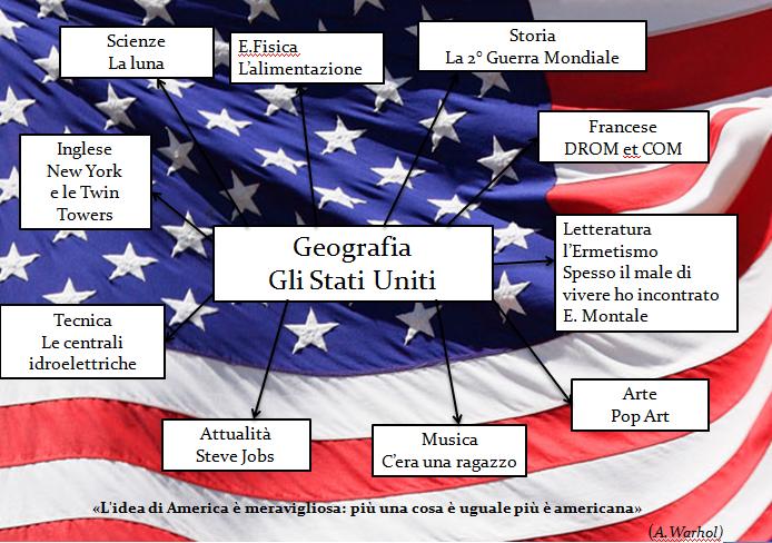Gli Stati Uniti Geografia Schema-gli Stati Uniti D'