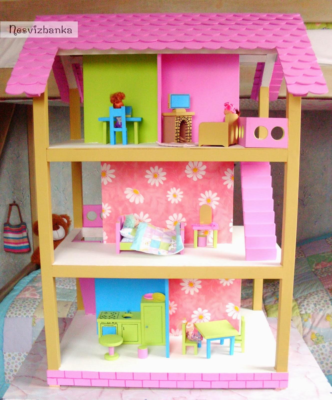Как сделать дом для кукол только из картона 696