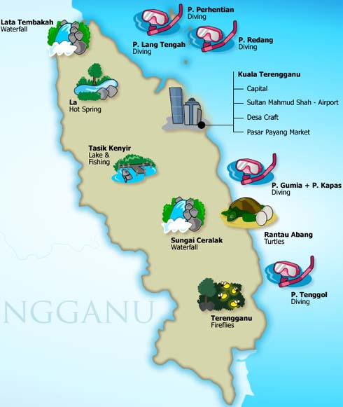 Terengganu Attractions Map