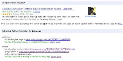 Cara MeMunculkan Bintang di Mesin pencarian google