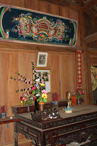 Altar at a stilt house of the Tày ethnic people