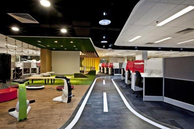 Singtel office interior design in singapore by ong ong for Office interior design ideas singapore