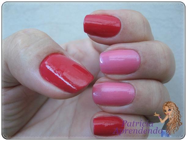 Vermelho e rosa combinados
