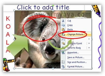 Gambar:  Cara mengganti gambar dengan ukuran dan posisi yang sama di powerpoint